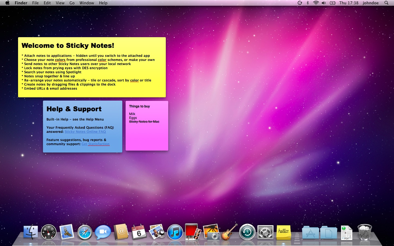 mac post it notes desktop