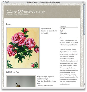 Home Page - Claire O'Flaherty