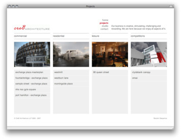 Cre8 Architecture - Project List