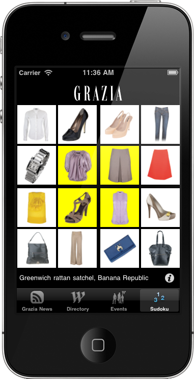 Grazia at westfield iphone app for Home building apps for iphone